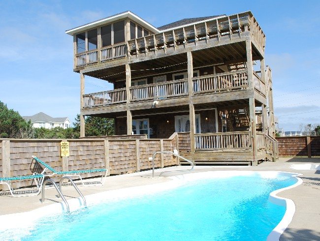 1st Floor: Pool Deck - Large Pool & Kids Pool